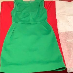 Retro lime green dress
